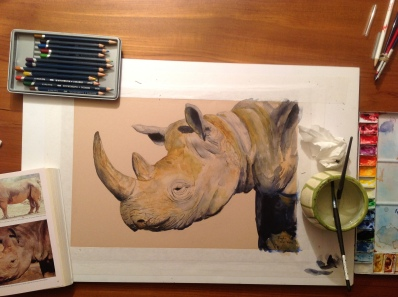 rhinoceros painting
